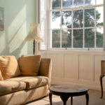 Pine room – Lounge area sofa by window