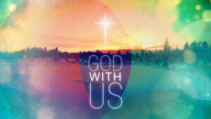 Christmas star and 'God With Us' text